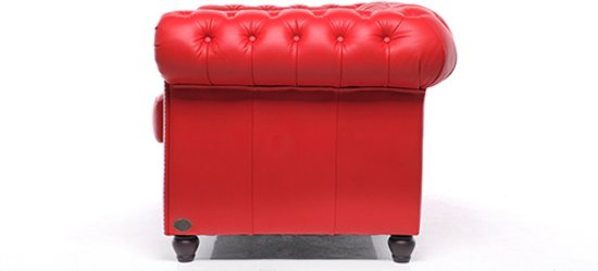 Chesterfield Original Brighton 1+2+3-zits Modern Rood