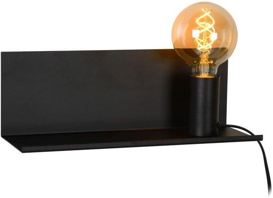 Lucide SEBO - Bedlamp - E27 - Zwart