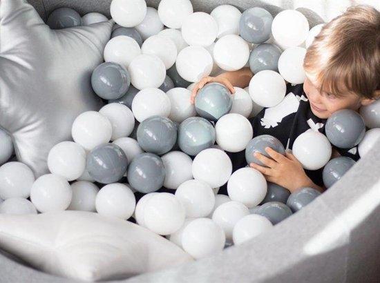 Misioo Ballenbad Rond Grijs, incl. 200 ballen