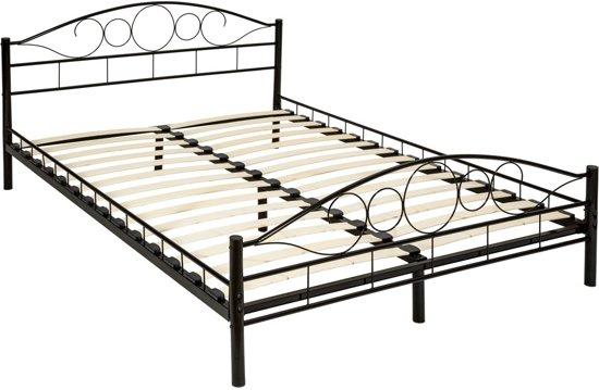 bol | bedframe metalen bed frame met lattenbodem 200*140 cm 401723