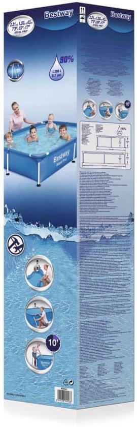 Bestway Zwembad met stalen frame 221x150x43 cm 56401
