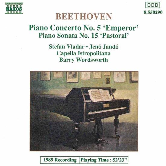 Beethoven: Piano Concerto No 5, Sonata No 15 / Vlader