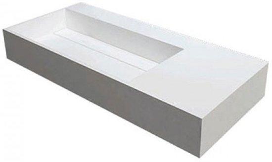 Bette aqua wastafel cm zonder kraangat zonder overloop wit
