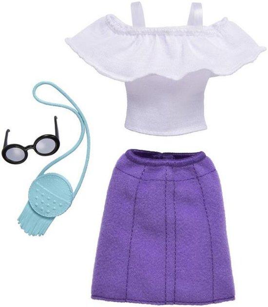 Barbie Outfit Zomers - Shirt + Rok en Accessoires