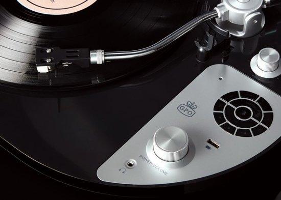 GPO PR50 Premium Retro Platenspeler Bluetooth Zwart