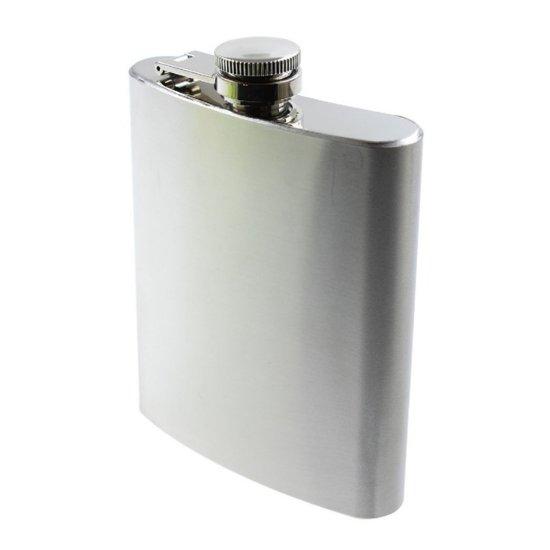 Heupfles 200ml - flacon - rvs - met schroefdop - veldfles