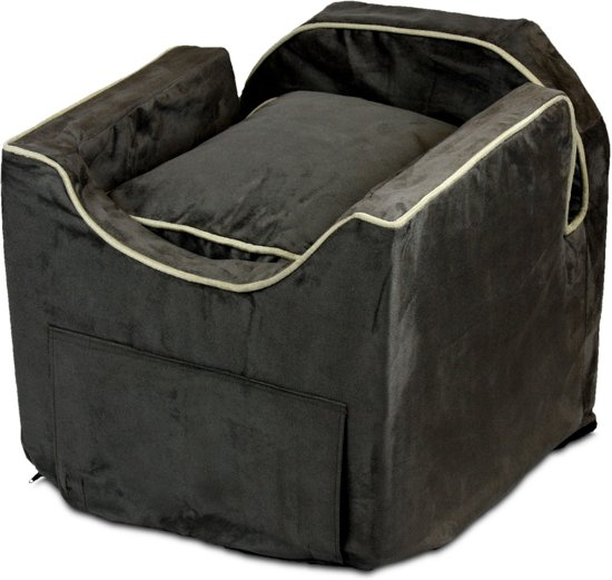 Snoozer Lookout - Autostoel - Autozitje voor honden - Medium 56 cm - Dark Chocolate - Met lade