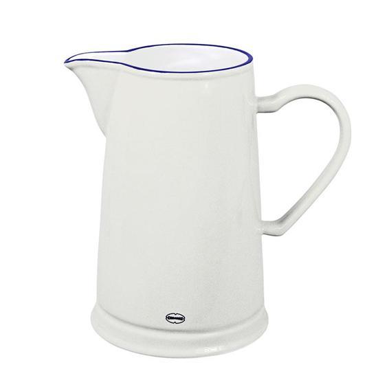 CABANAZ - PITCHER WH, ceramic, classic white, BD 14,2 x H 22 cm / 1.6L