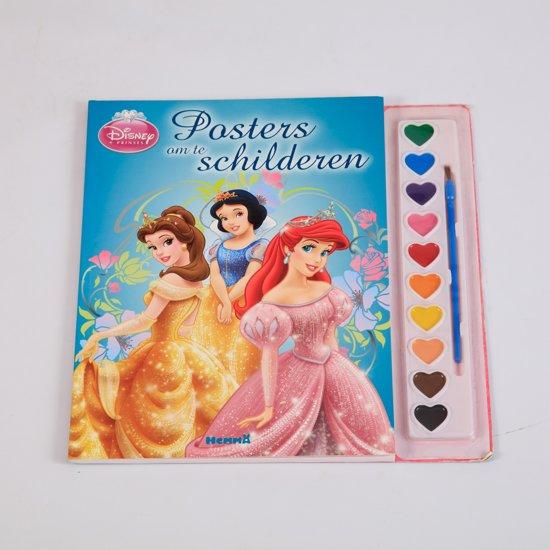 Disney Prinses Posters Om Te Verven Incl Verf Kwastje