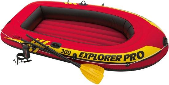Intex Explorer Pro 300 Opblaasboot - Inclusief peddels en pomp