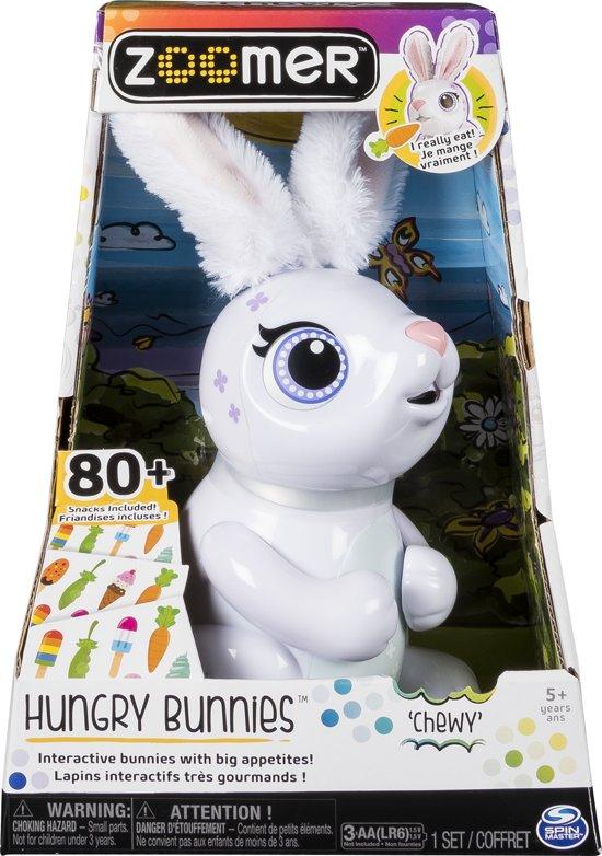 Zoomer Hongerig Konijn - Wit Speelgoedrobot