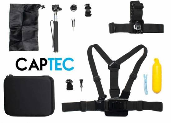 Captec Voor Gopro - accessoires set 3 - 11 in 1 accessoire set geschikt voor Go Pro Hero: 1 , 2, 3, 3+, 4, 5, 6 - GoPro Hero 5, 6 Accessoire set