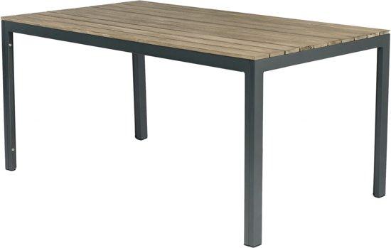 Tuintafel Aluminium Hout.Tuintafel Claro Aluminium En Eucalyptushout 160x90cm Antraciet