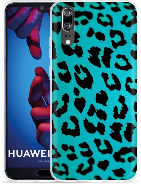 Huawei P20 Hoesje Luipaard Groen Zwart