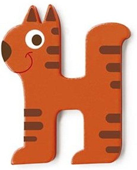 Scratch Letter H Poes Oranje 5.5 Cm