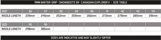 rood grip 41 Sr Ii Explorer Canadian Winter grijs Snowboots Zwart Z8qPwwRd