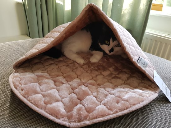Noseys Cats - Kattenslaapzak - 60x40cm - Blush/roze - premium