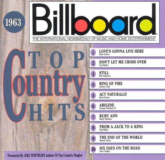 Billboard Top Country Hits 1963