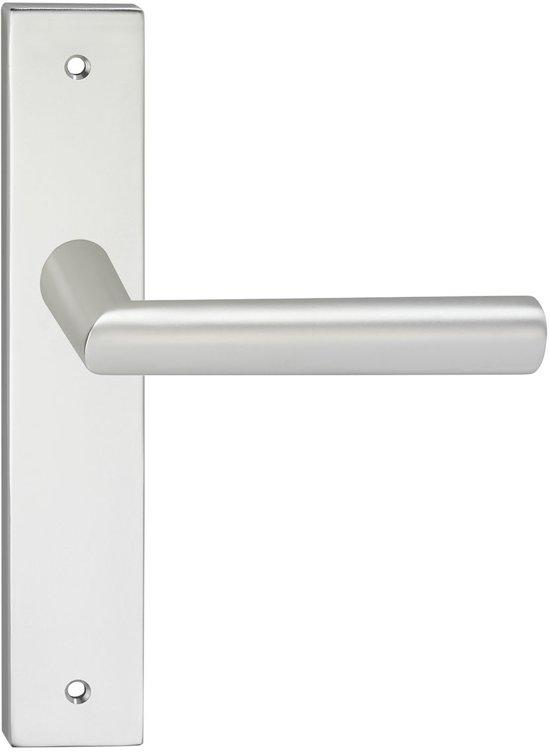 Impresso London Deurbeslag - Voor binnen - Vierkant deurschild met schroeven - Aluminium