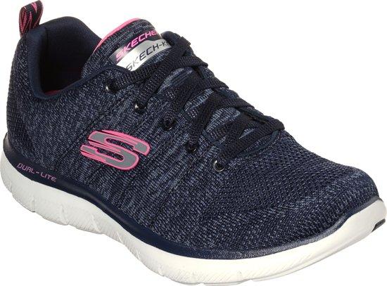 Skechers Flex Appeal 2.0 High Energy Sneakers Dames Navy Maat 40