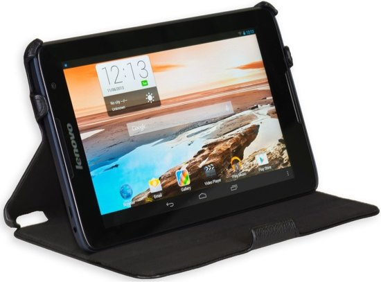 Gecko Covers Slimfit hoes voor Lenovo Idea Tab A8-50 (A5500) - Zwart in Ressaix