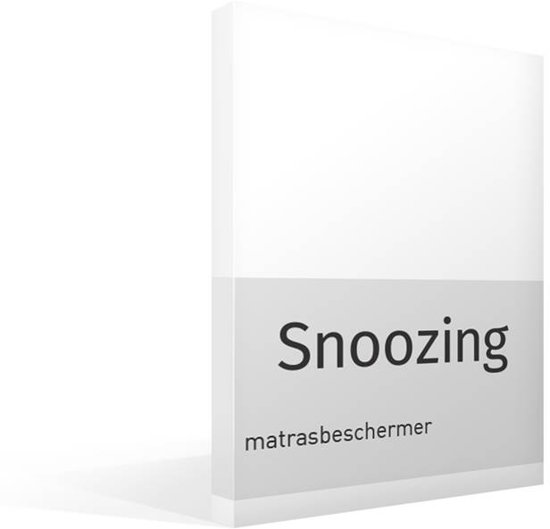Snoozing - Matrasbeschermer - Tweepersoons - 130/140x200 cm - Wit