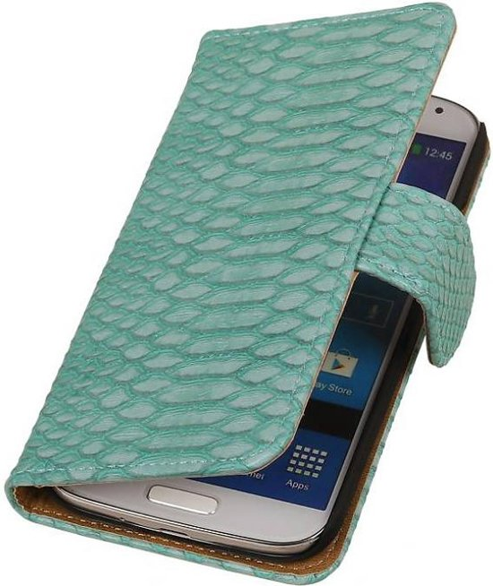 Samsung Galaxy Core i8260 Hoesje Slang Bookstyle Turquoise