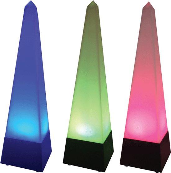 Pyramide lamp met RGB kleuren