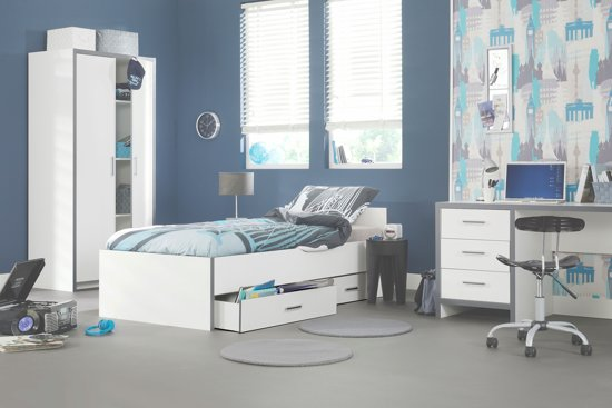 True furniture ibiza tienerkamer wit grijs - Kamer blauwe jongen grijs ...