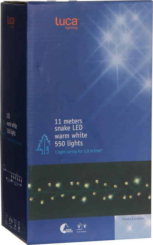 Luca Lighting Kerstboomverlichting 11 m - 550 LEDs - voor 180 cm hoge boom