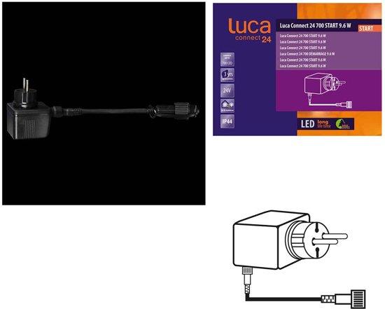 Luca Lighting - Transformer Connect 24 Zwart 700 Start 9.6W