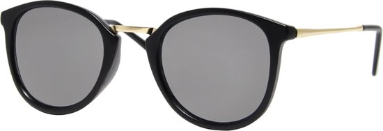 58e4a610632807 Cheapass Zonnebrillen - Ronde zonnebril - Goedkope zonnebril - Zwart