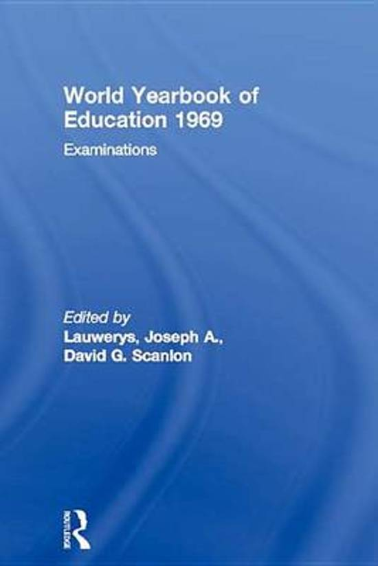 World Yearbook of Education 1969