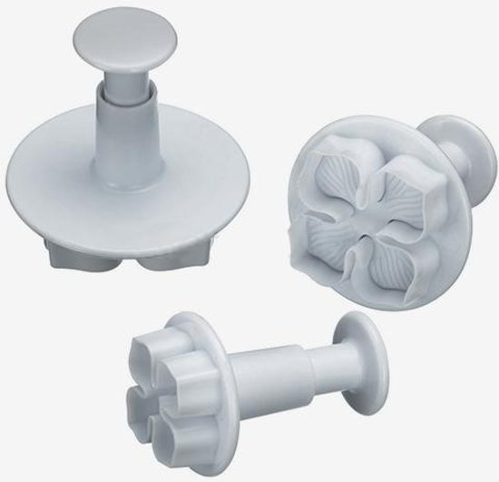 KitchenCraft Set van 3 plunger cutters - hortensia / bloemen - Sweetly Does It | Kitchen Craft