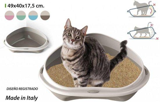 Georplast open hoek kattenbak 49x40x17 5 cm - Hoek maaltijd ...
