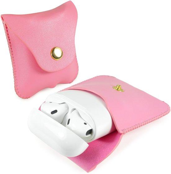 Tuff-luv - Faux leren hoesje voor de Apple airpods headphones - roze