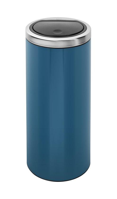 Brabantia Afvalbak 30 Liter.Bol Com Brabantia Touch Bin Prullenbak 30 L Vintage Blue