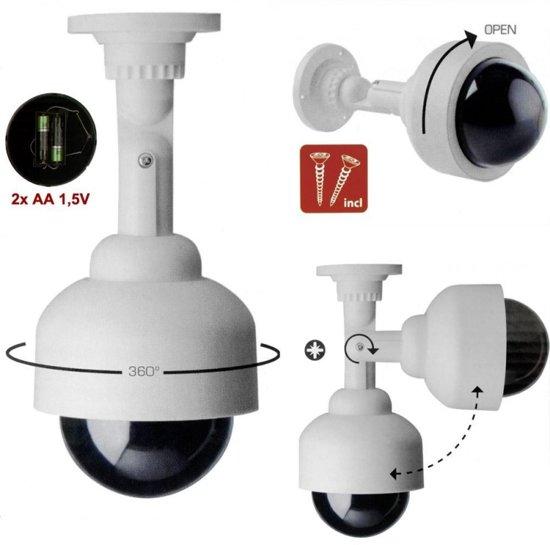 bol.com | Dummy Dome Camera - Draadloze Nepcamera Met LED ...