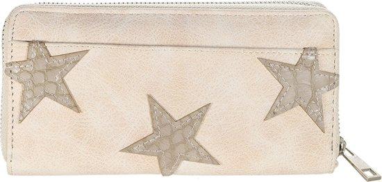 Grote portemonnee met kleine sterren - taupe|blingdings