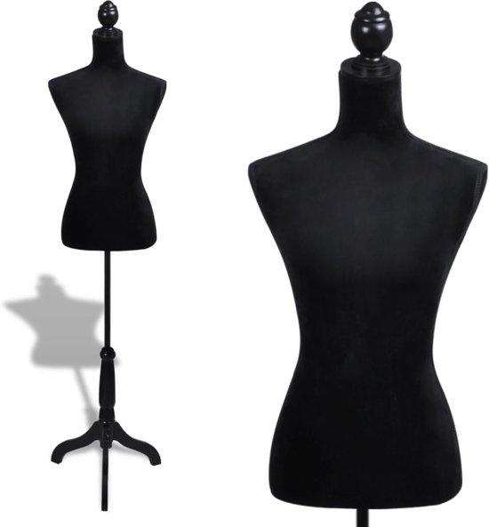 bol | vidaxl - paspop vrouwen torso etalagepop flueel (zwart)