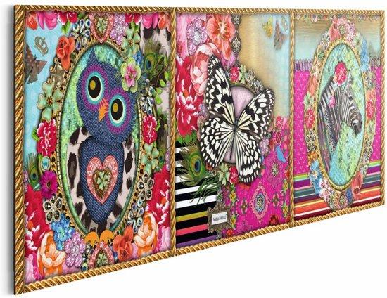 Reinders melli mello drieluik schilderij 90x30cm wonen - Deco schilderij slaapkamer kind ...
