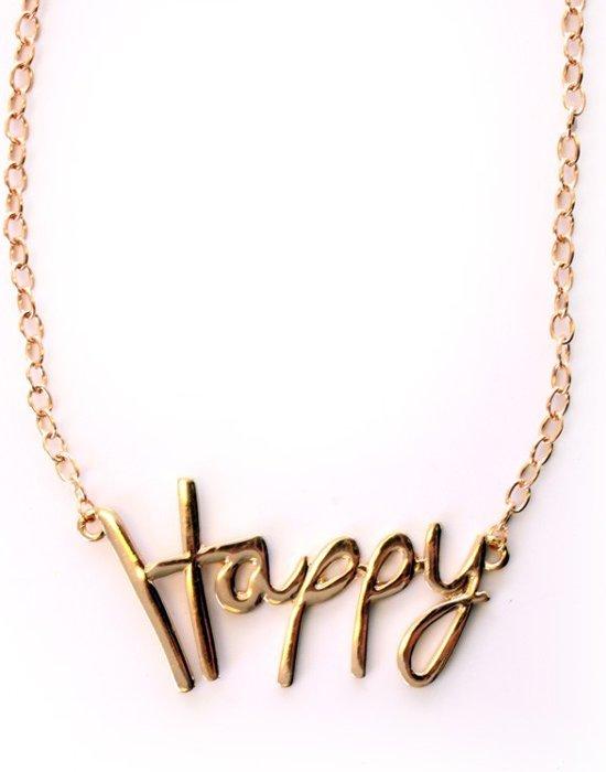 Ketting goud 'Happy'