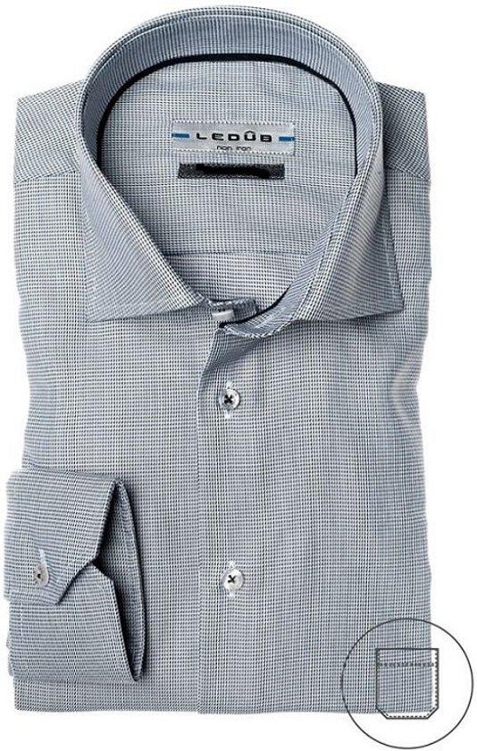 Ledûb tailored fit overhemd, grijs, maat 39