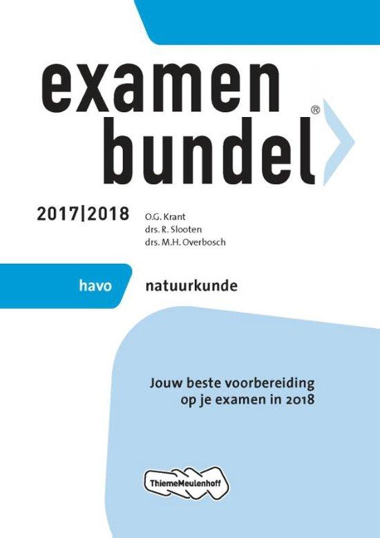 Examenbundel havo Natuurkunde 2017/2018