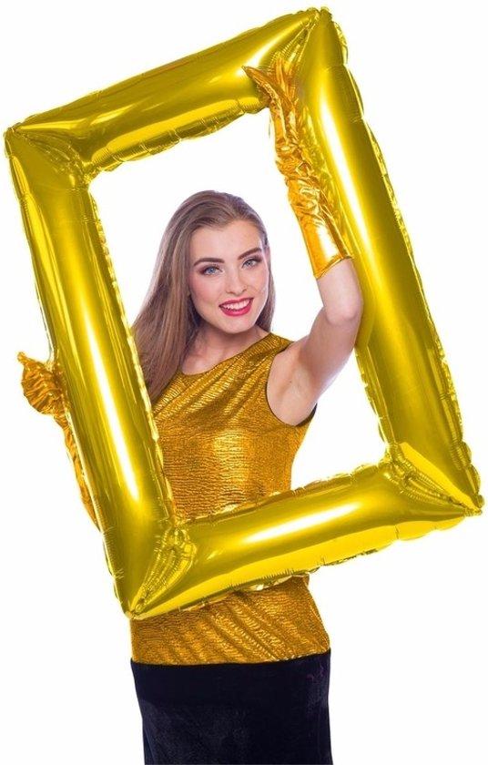 Folie  foto frame rechthoek goud 85  x 60 cm