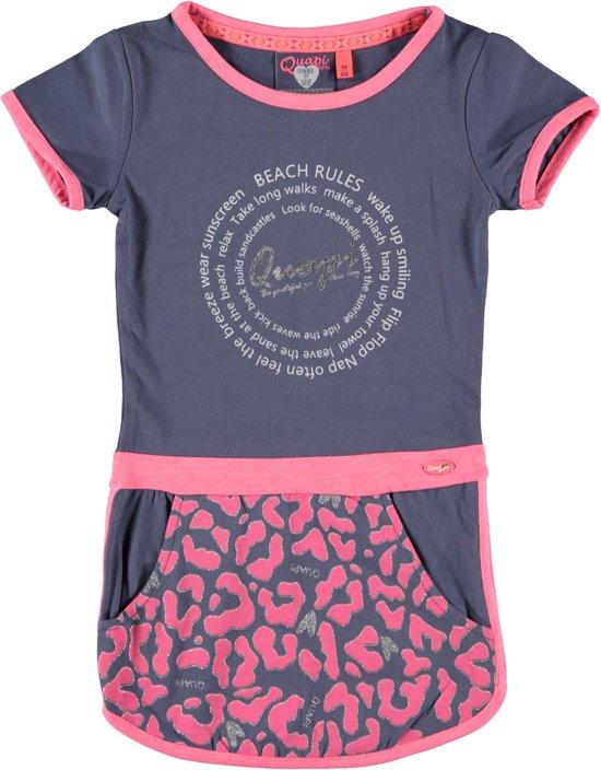 1dd5bc2fda1d42 bol.com | Quapi Meisjes jurk meisje blauw roze - Maat 98/104