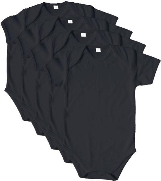 Link Kidswear - Romper Korte mouw - Maat 86/92 - Zwart - 4 stuks