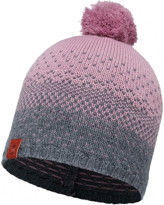 KNITTED HAT BUFF - MAWI LILAC SHADOW