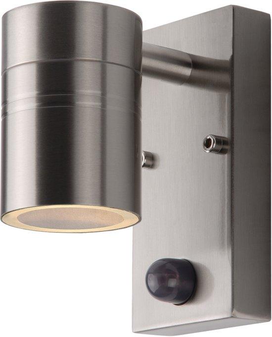 Lucide ARNE-LED - Wandspot Buiten - Ø 6,3 cm - LED - GU10 - 1x5W 2700K - IP44 - Mat chroom