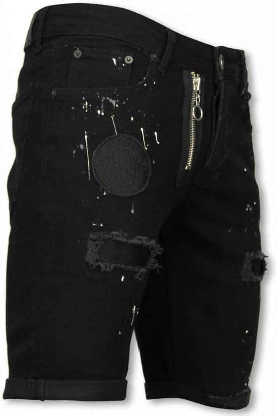 Korte Jeans Broek Heren.33 Short Maten Slim Zwart Jeans Fake Enos Heren Fit Korte Broek